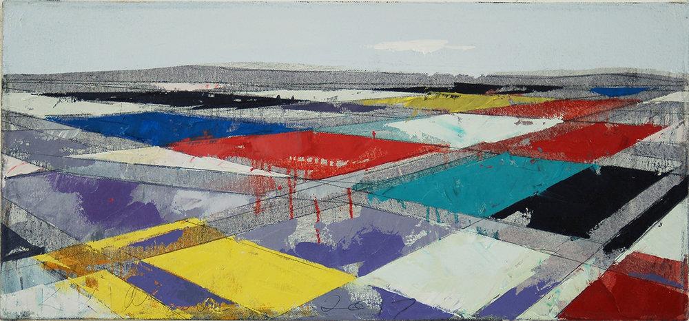 "Landscape Study #86, 2017, 12"" x 26"", o/c"