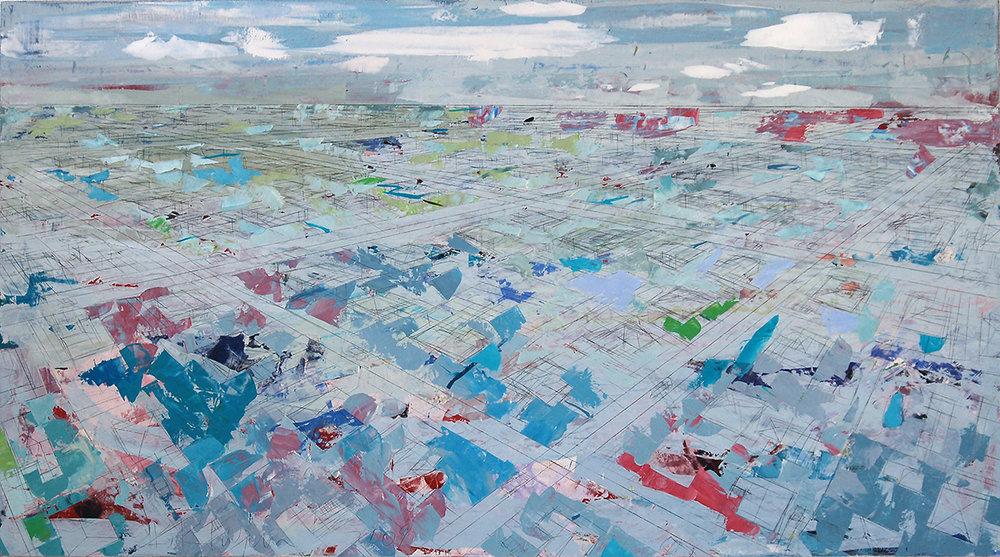 """Blue Daze, 2009, 40"""" x 72"""", o/c"""