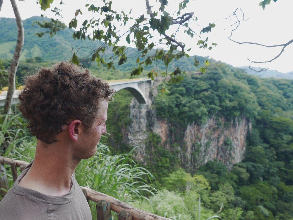 Impressive bridge...and neck tan.