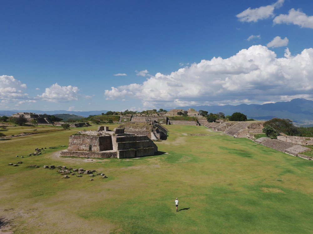 The Monte Alban ruins, one of Mesoamerica's earliest cities dating back 2500ish flippin' years.
