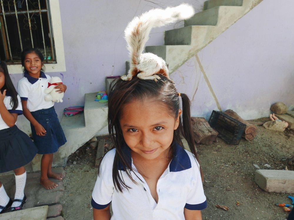 Choochie! The pet squirrel.
