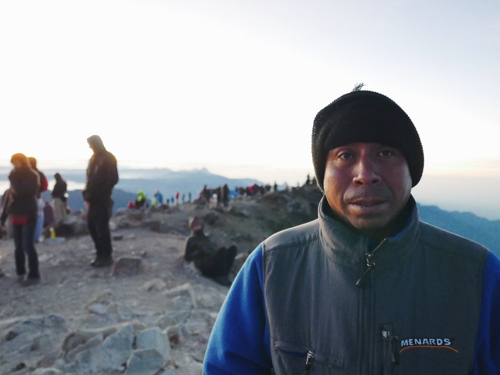 Amaro, our over-qualified ex-guerrila guide spent years living on a similar volcano during Guatemala's armed conflict. His idea of packing was to bring two pairs of sweatpants. In different colors.