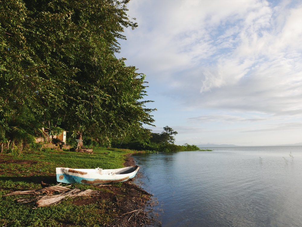 Lake Nicaragua from the shore of Ometepe.