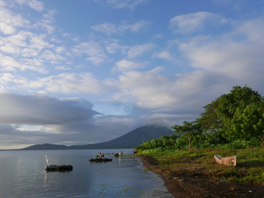 Lenticular clouds and lake laundry. Ometepe Island living.