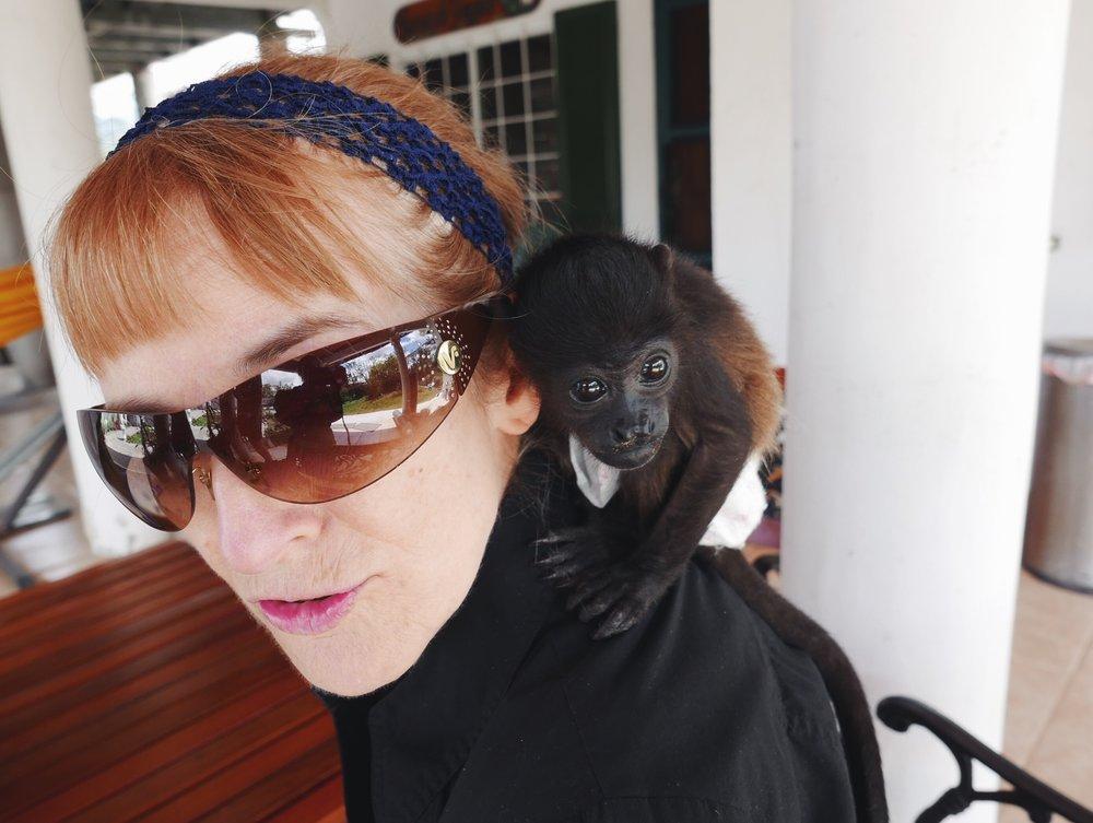 Enjoy the monkey mom, grandchildren are a looooong ways off.