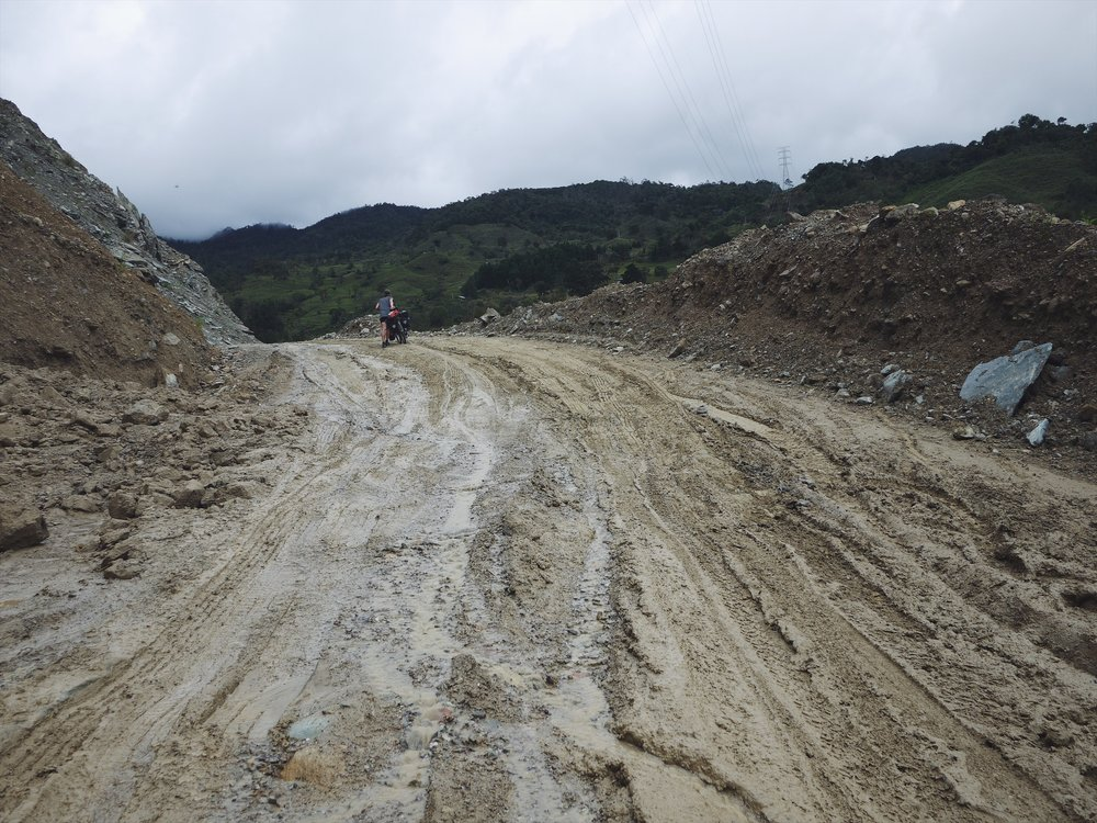 Right smack in the midst of Colombia's second rainy season, mudslides are a scary and constant reality in the mountains. A tough, post-storm push.