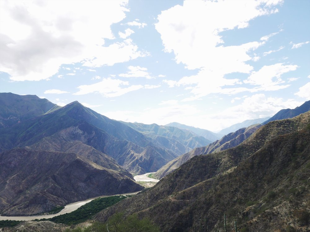 "Some 9,000 feet below Calla Calla Pass flows the Marañón River, the largest source to the Amazon River. Peru loves its superlatives, deeming this canyon the ""Deepest in the world."" Our legs believe it."