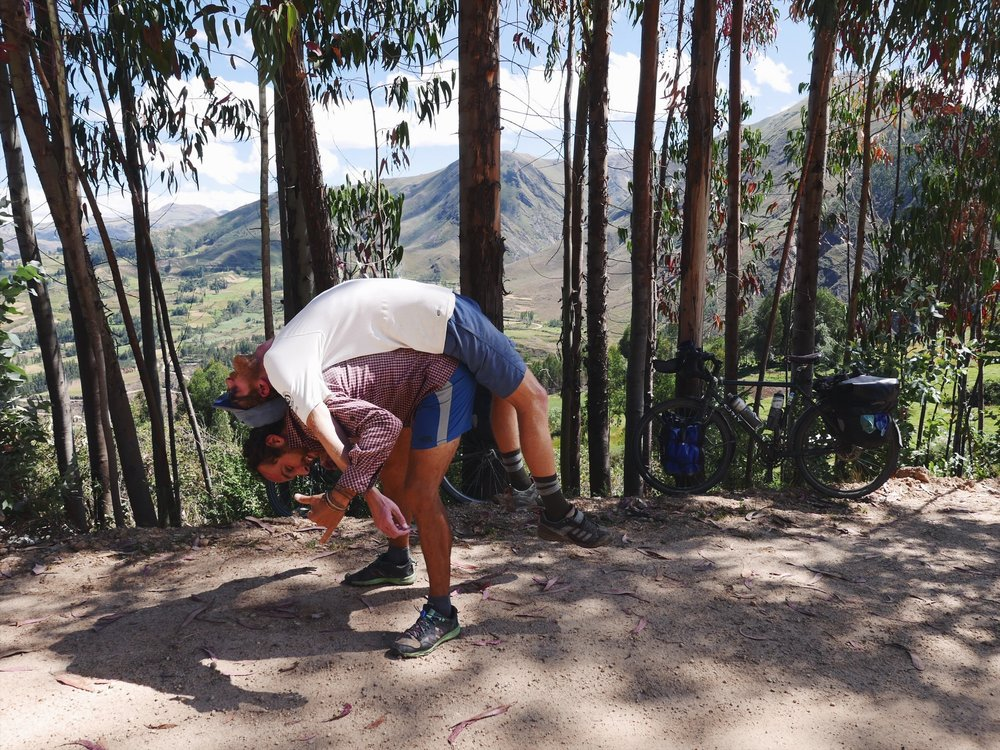 We made fast friends with a French couple sharing campsites, meals and stretching techniques over a couple days in Northern Peru.
