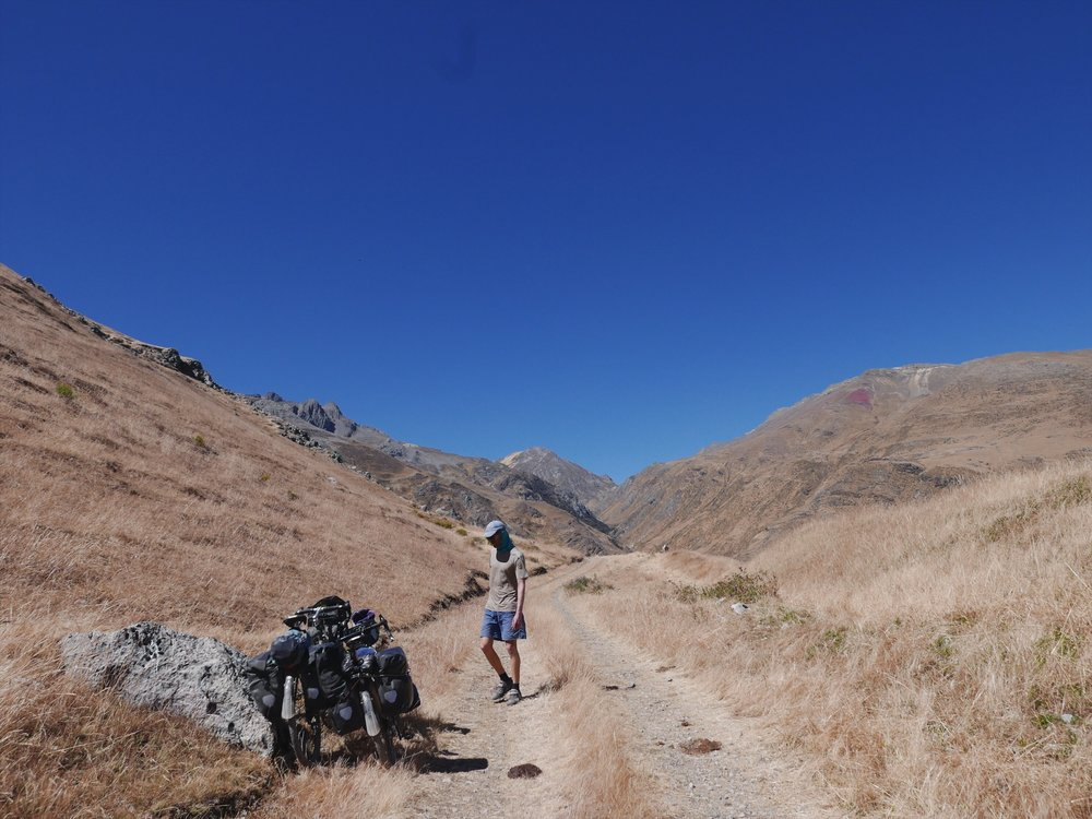 One of the higher and harder passes of the trip. Hike a' biking on the steeper gravel sections made for slow progress, an inevitability of the Divide route.