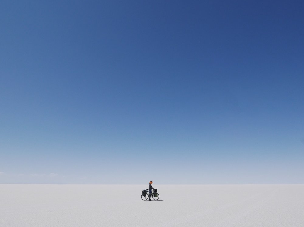 All by my selffff.  Salar de Uyuni—world's largest salt flat.