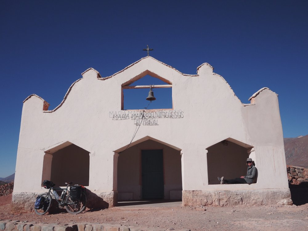 Much of Northern Argentina is reminiscent of the American Southwest. This church in El Trigal does its best Santa Fe.