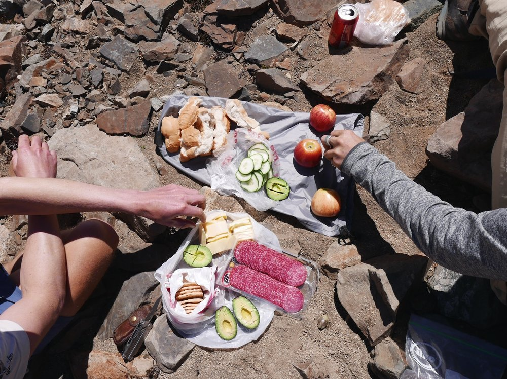 Mountaintop picnic.