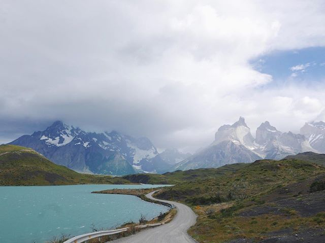 We shared a sense of relief riding away from the last of the mega Patagonia attractions. Although one of the most impressive vistas of the trip, Torres del Paine shows the wear of its 200,000 annual visitors. #portlandtopenguins