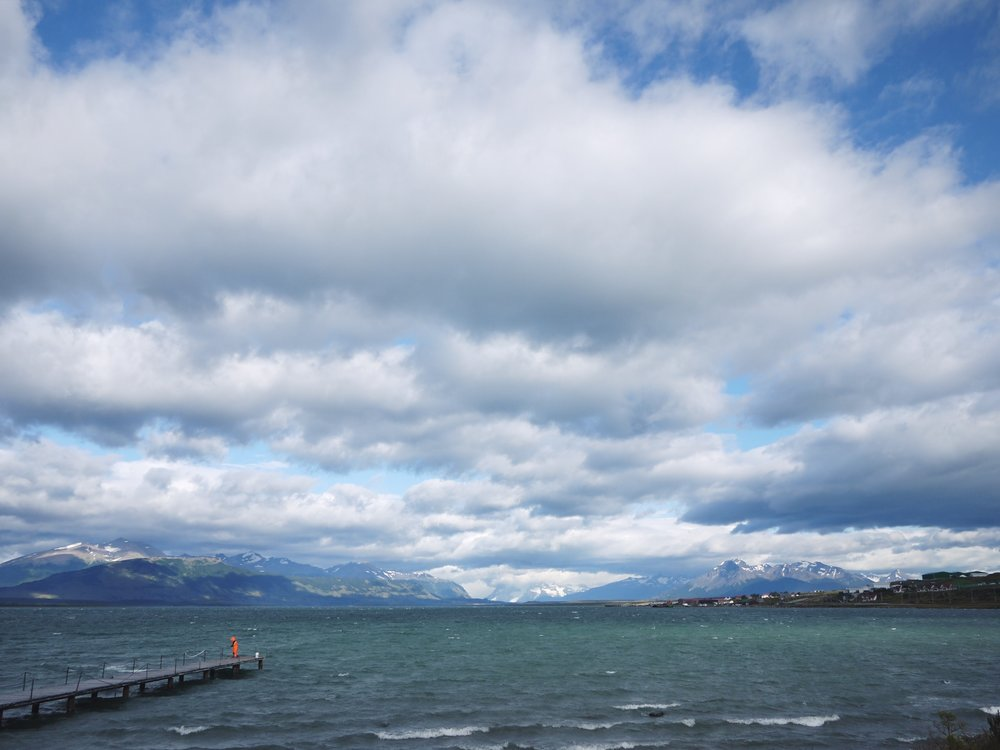 Fisherman and the Pacific outside Puerto Natales.