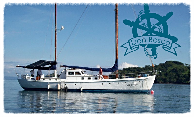 Don Bosco is a prized 65-foot 2-masted yacht that is now fully equipped with state-of-the-art navigation equipment, twin diesel engines, and has all the comforts of today combined with the quality construction, charm and class of this yesteryear vessel.