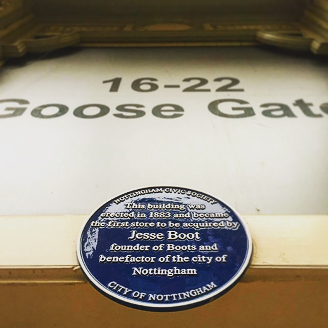 The plaque commemorating Jesse Boot.JPG