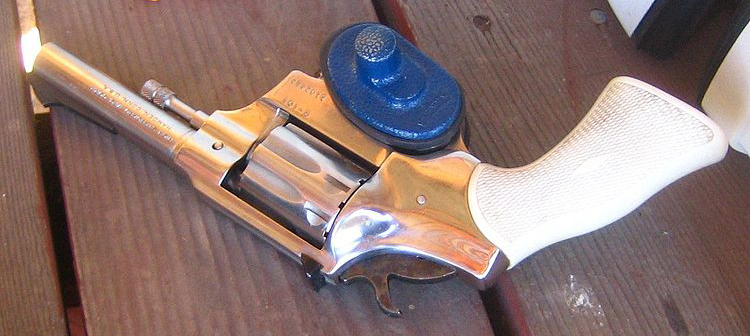 A trigger lock on a revolver (Photo:   rick  )
