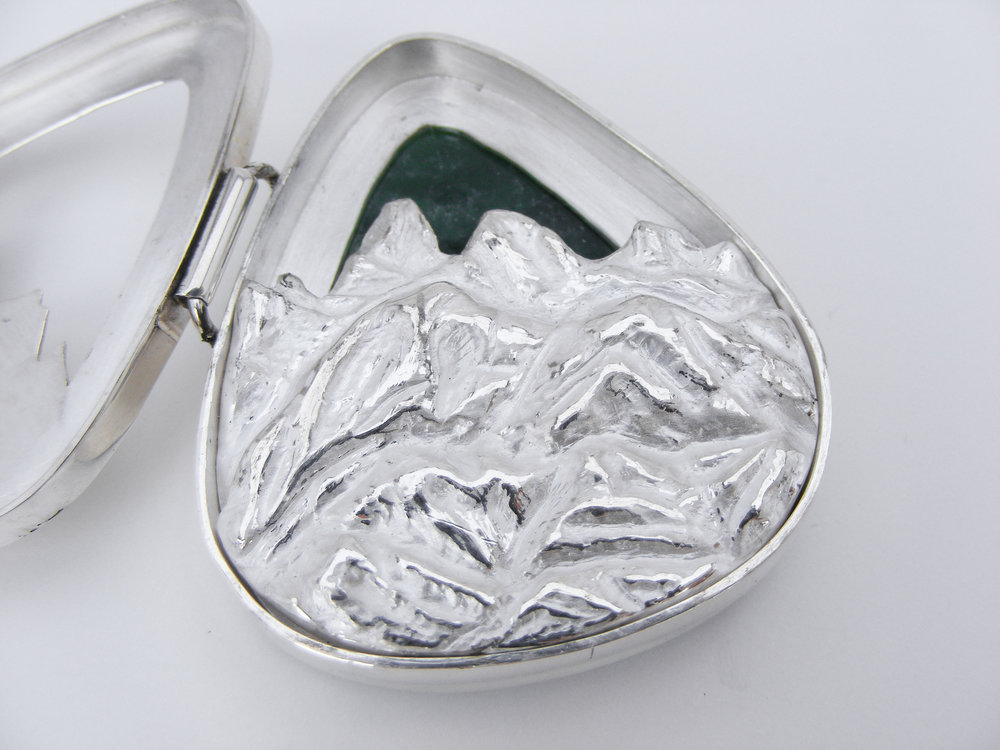 Carved Mountain Locket