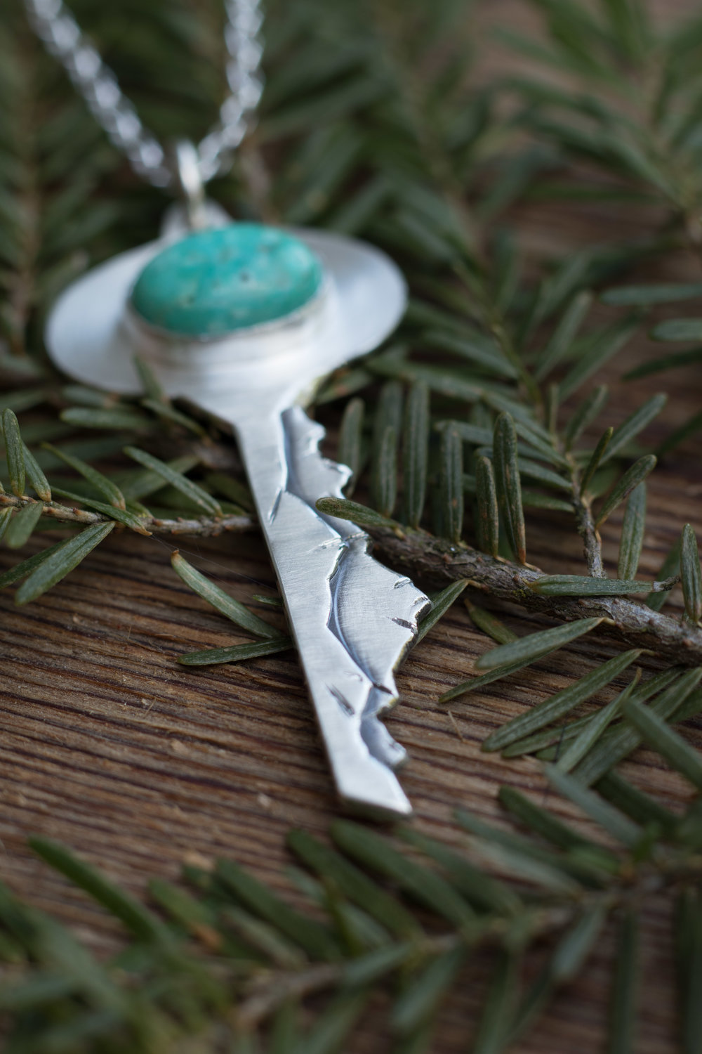 Mt Sneffels, Colorado    Sterling silver and turquoise