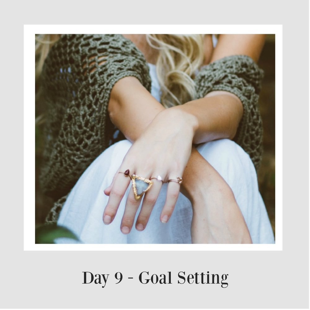 Setting goals, being goal specific and keeping focussed on your goals -