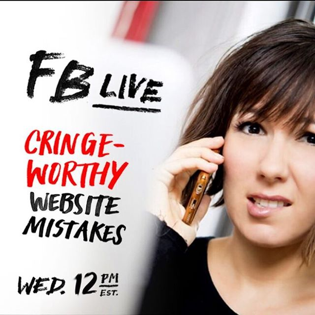 TODAY! Click the link in my bio and join me TODAY as I talk about all these horrible mistakes that most people make on their websites that scare people away from contacting you! Some of them are easy to fix, some of them are more of a challenge, but why would you leave these mistakes up if you can fix them?!?! If you can't make it live you can watch the replay, it'll be up until Friday! #cringeworthy #websitetips #brandtips
