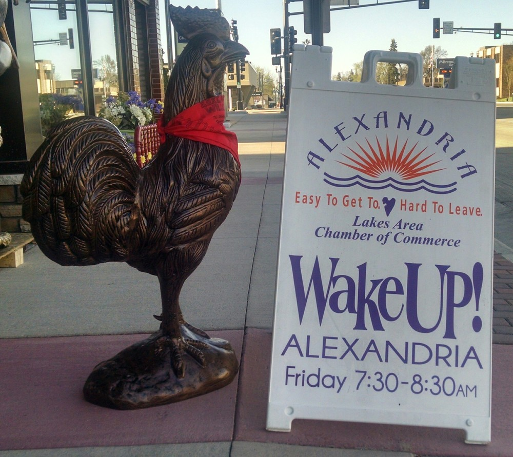 The official antique Wake Up Rooster.JPG