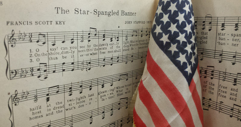 The 42-foot long garrison flag from Fort McHenry helped to inspire Francis Scott Key to write the poem that would later become our nation's anthem.