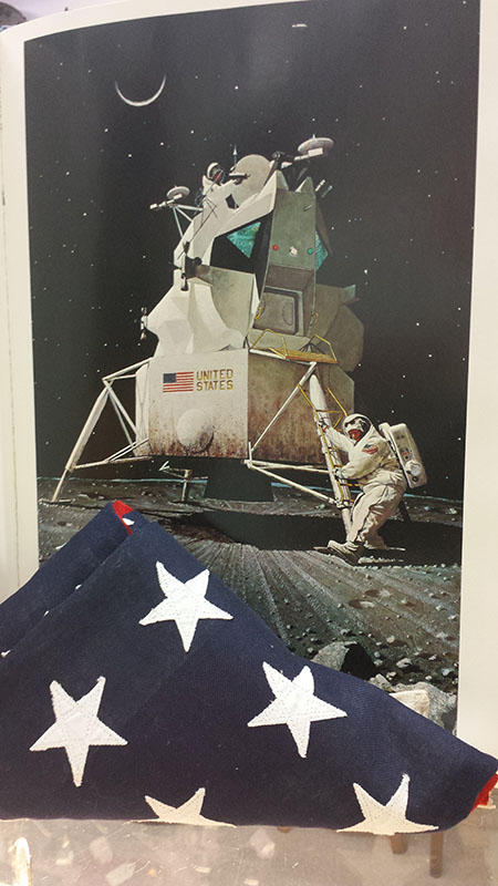 "The first American flag on the moon was placed there by astronauts Neil Armstrong and ""Buzz"" Aldrin during the Apollo 11 mission."