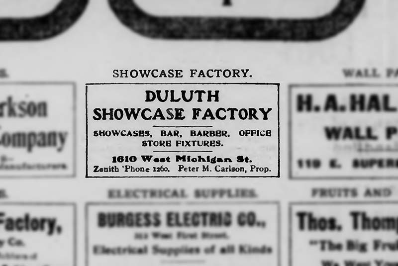 Duluth Evening Herold from 1906. myheritage.com. Retrieved: July 29, 2016.