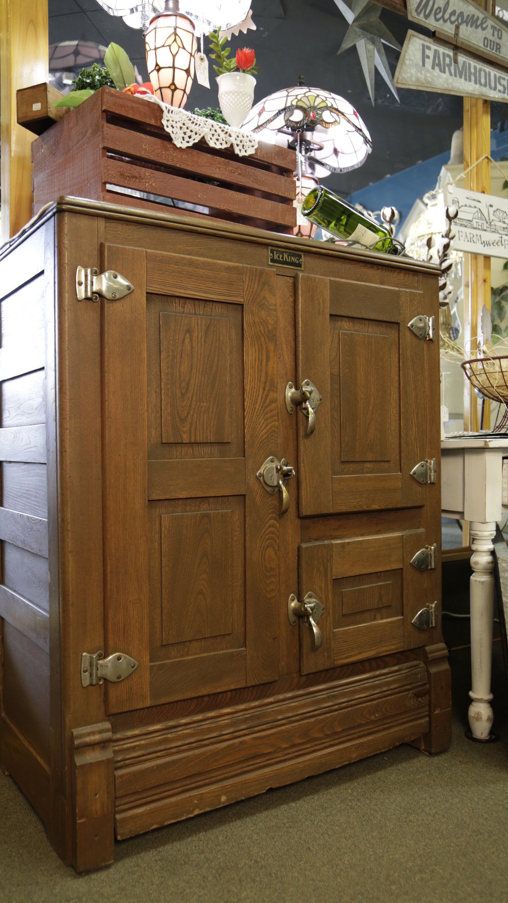 antique wooden ice box  antiques in Alexandria MN