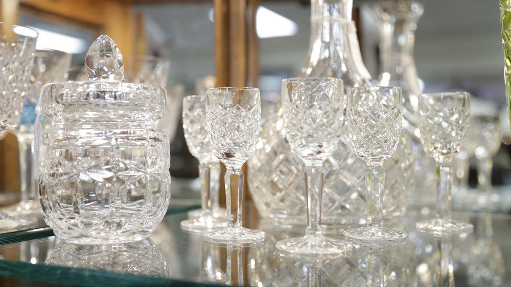 crystal bar ware  sparkling crystal  Christmas gifts