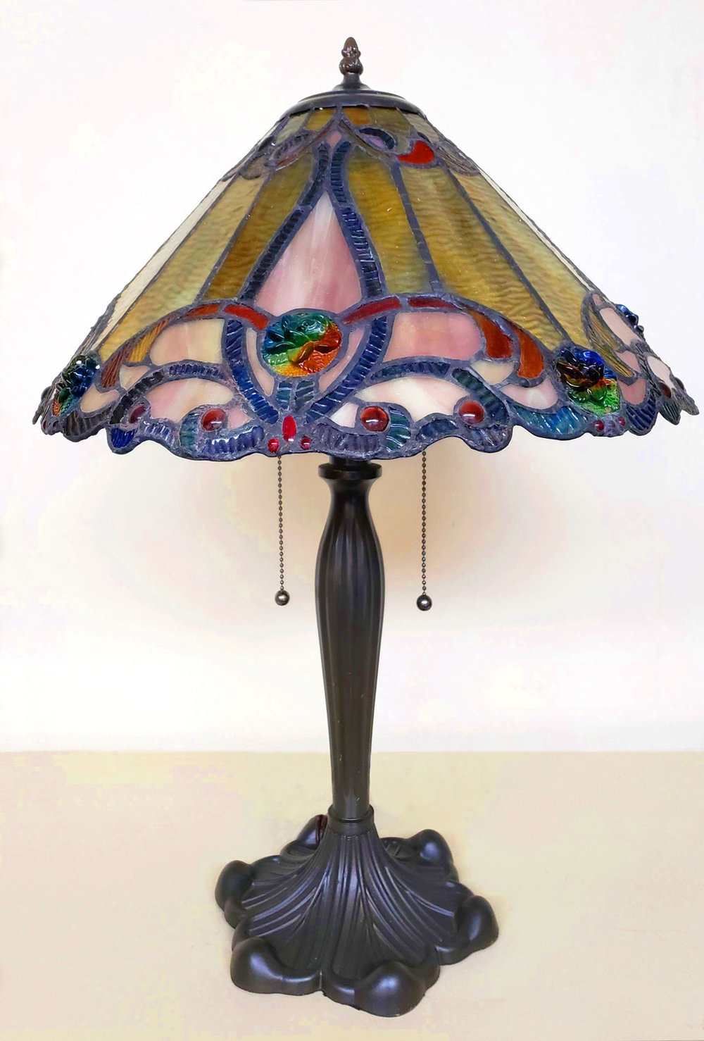 Create a memorable atmosphere with soft stained glass lighting.