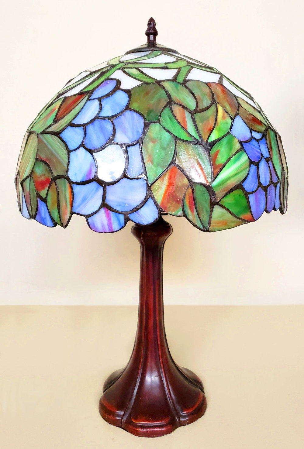 Stained glass lamps add character to any room.