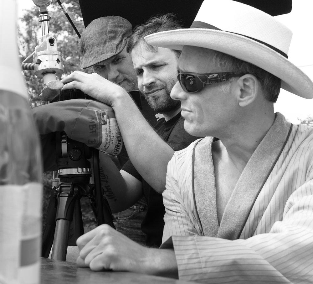 Thomas Bartholomäus (Regie), Golo Jahn (Kamera) und Axel Schrick (Franz) v.l.n.r.