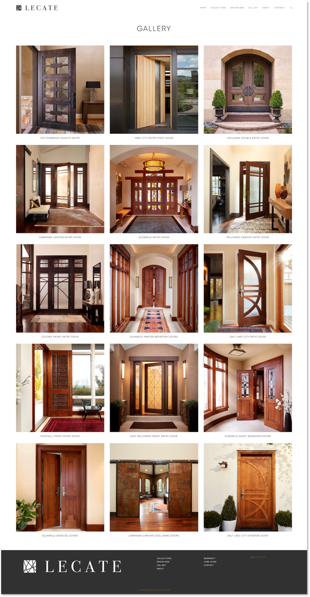 Lecate-Gallery-Page-Design-Website-Squarespace-Artisan-Doors-Salt-Lake-City-Treadaway-Design.png