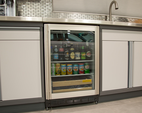 MINI- REFRIGERATOR-  When working hard in the garage, wouldn't it be nice to have something cool and refreshing to drink? We have a mini-frig option that will do the trick.