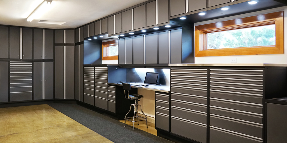 Baldhead cabinets for Beautiful garage interiors