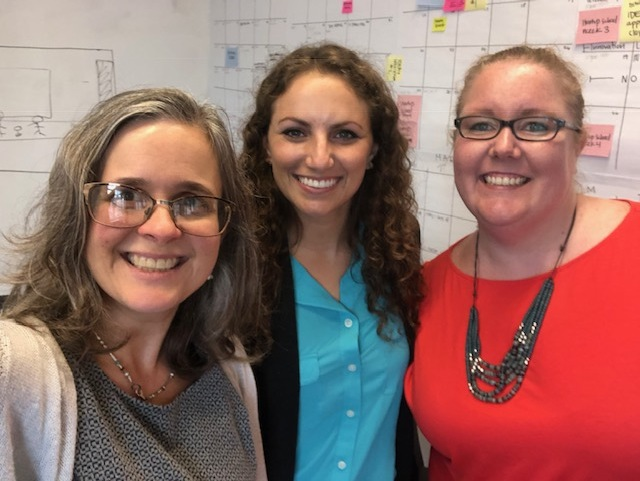 My mentoring meeting with entrepreneur Leigh Isaacson and Idea Village's Emily Egan