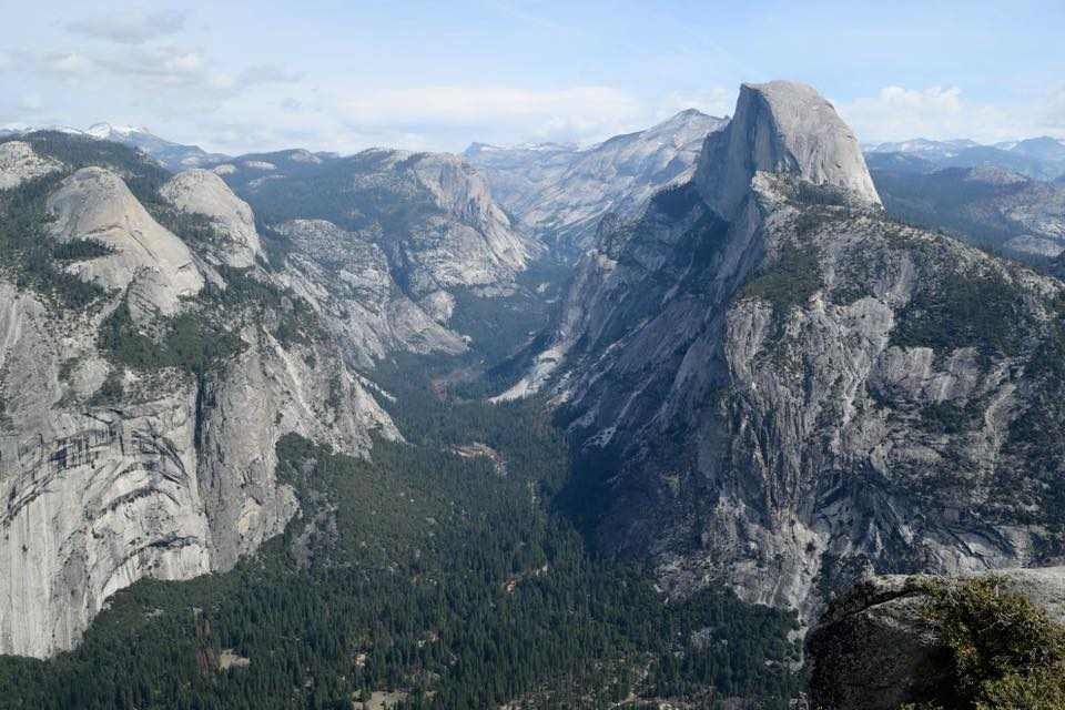 The magnificent view from Glacier Point