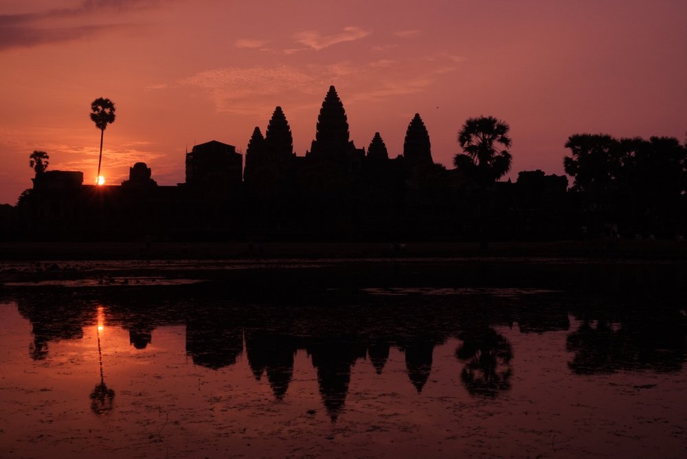 Beautiful sunrise over Angkor Wat