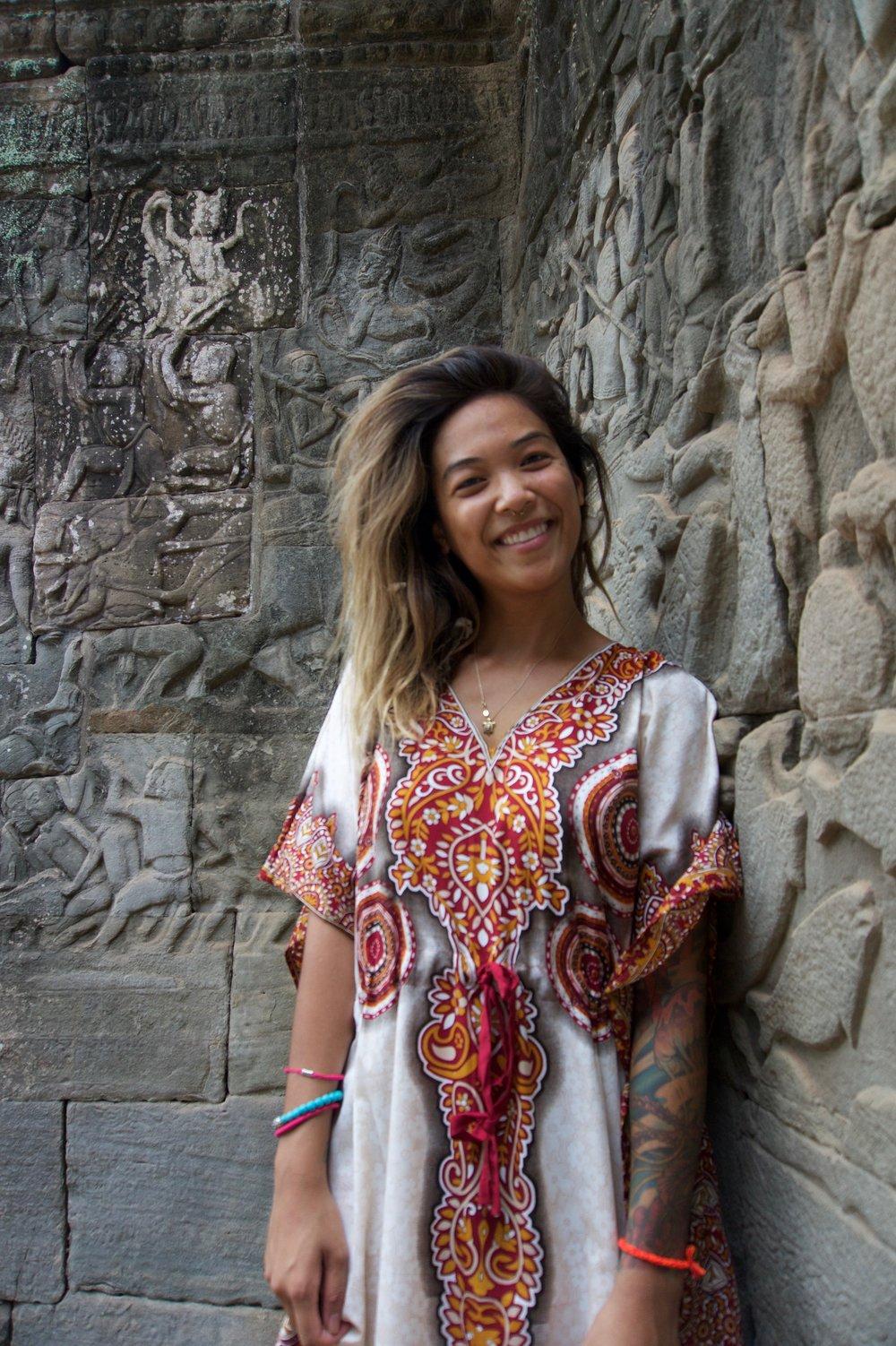 cambodia selfie