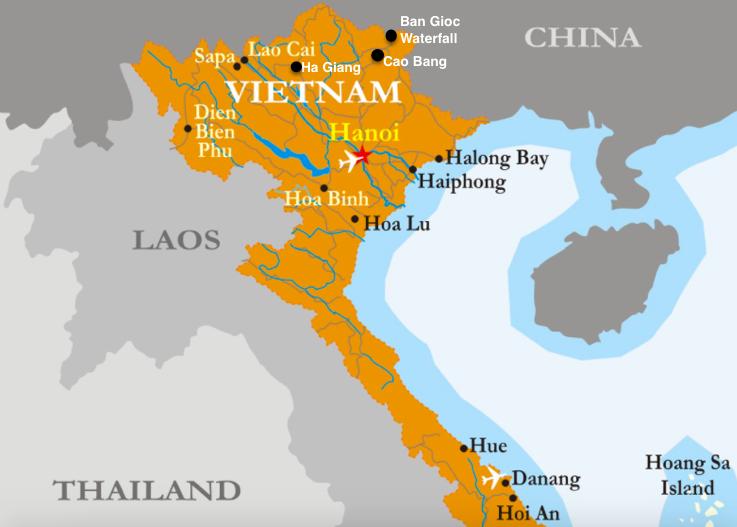 northern vietnam map