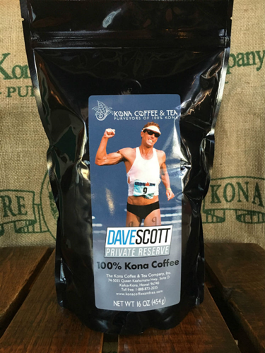 Dave Scott's private label 100% Kona Coffee