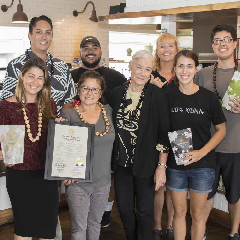2018 - Recognized by the County of Hawaii for 20th anniversary.