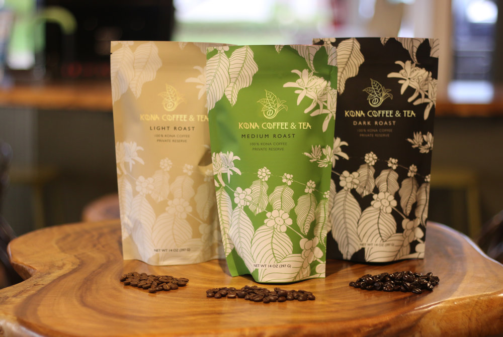 The makeover reveal: the new Kona Coffee & Tea packaging debuted in 2018  PHOTO: Chance Punahele Photography