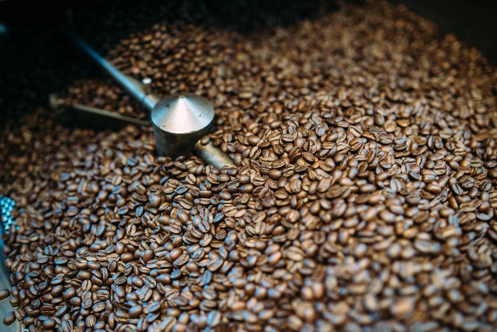 Kona Coffee & Tea's roaster PHOTO: Blake Wisz