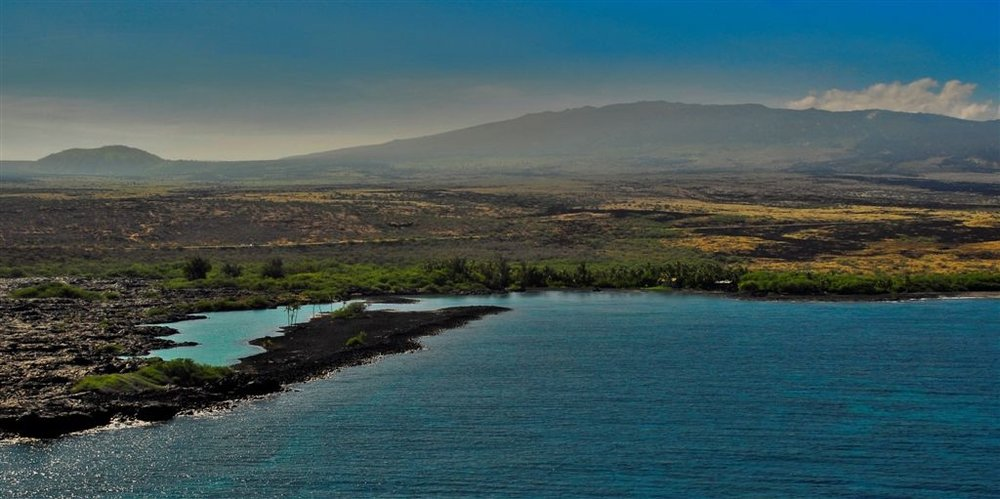 View of Kiholo Bay facing Hualalai  PHOTO: Charles Christianson