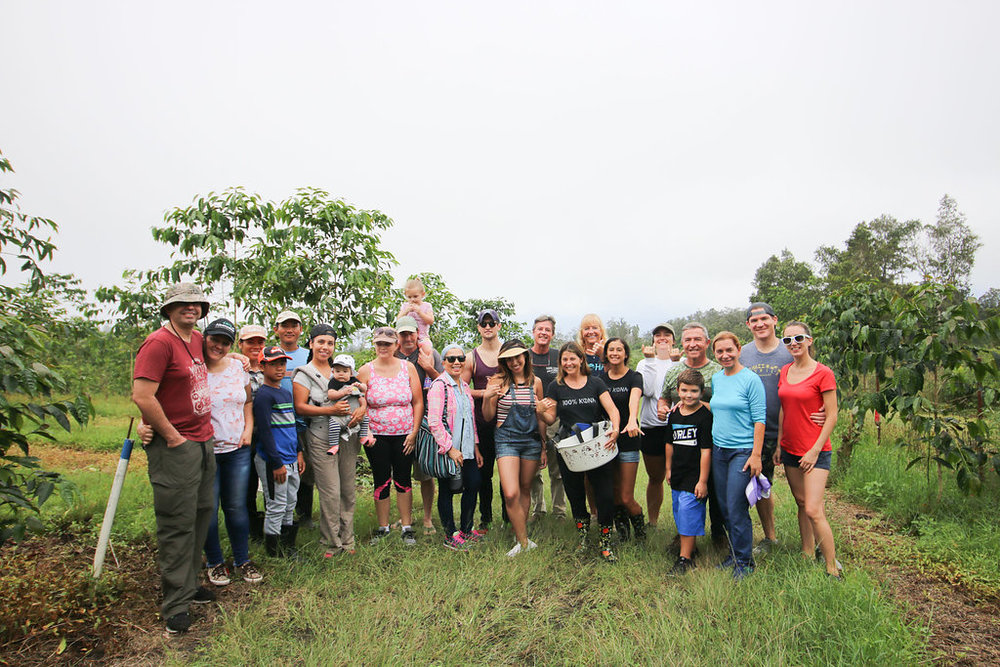 Mahalo to the awesome group of pickers at our First Harvest of 2018. PHOTO: Chance Ortiz