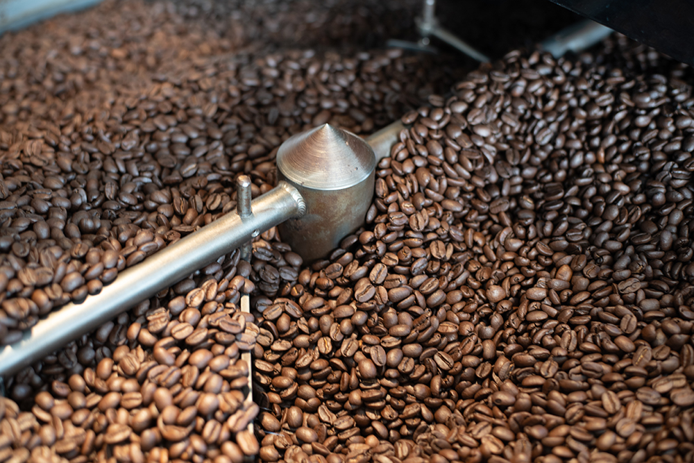 Kona Coffee and Tea coffee beans being roasted. PHOTO: Blake Wisz