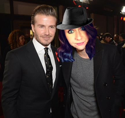 The closest I will ever come to being an athlete is this completely un-doctored photo of me meeting David Beckham.